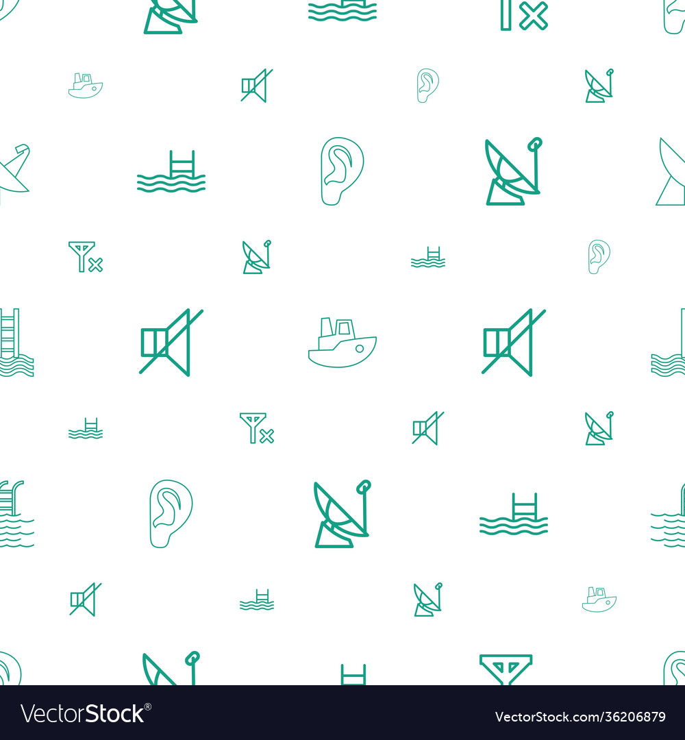 Waves icons pattern seamless white background