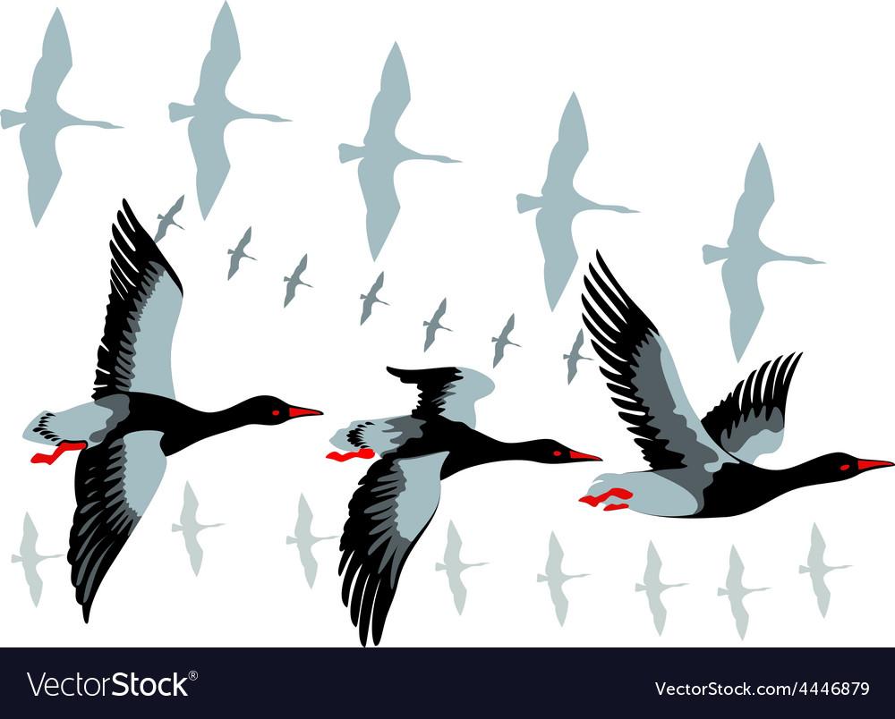 Картинки птицы улетают на юг осенью рисованные, утро
