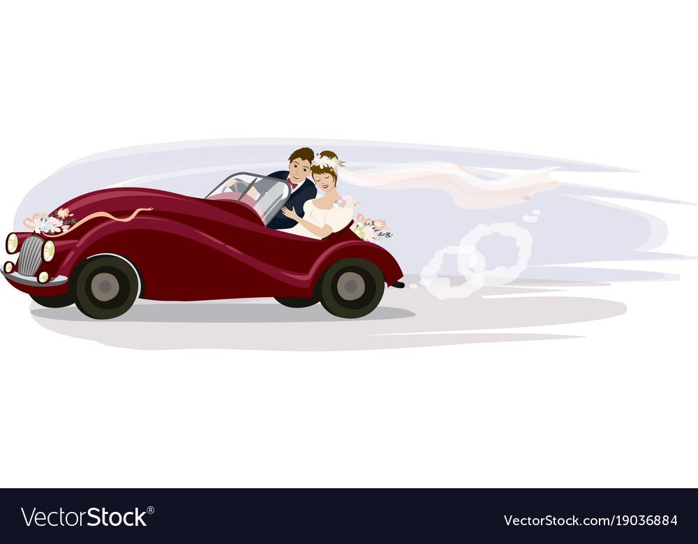 A wedding trip vector image