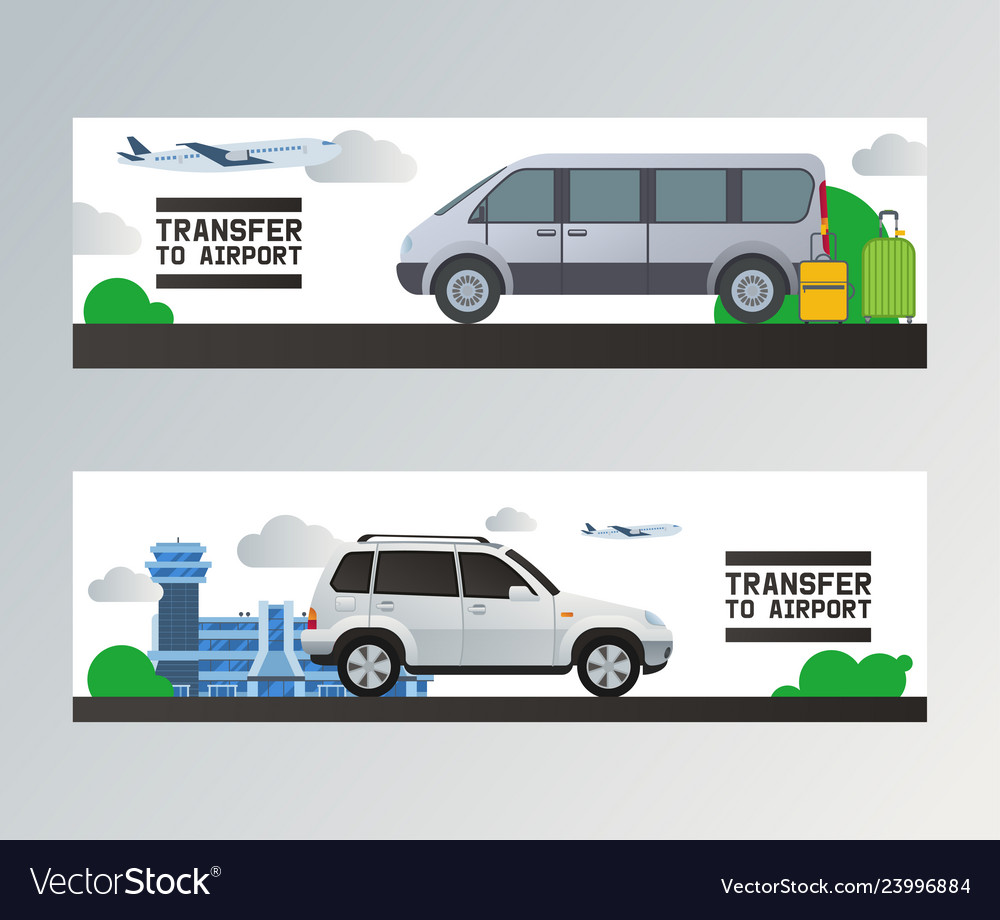 Airport transfer traveling by plane in airport