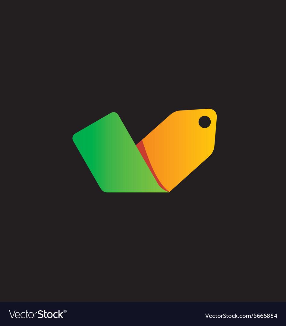 Coupon discount label color logo