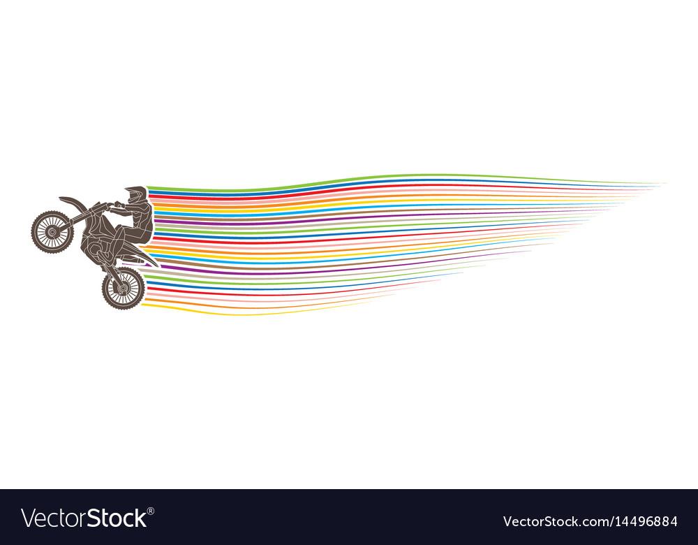 Freestyle motocross flying trick