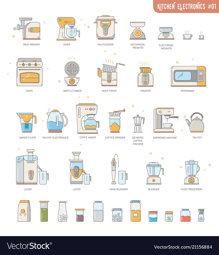 Icon Collection Kitchen Electronics Appliances