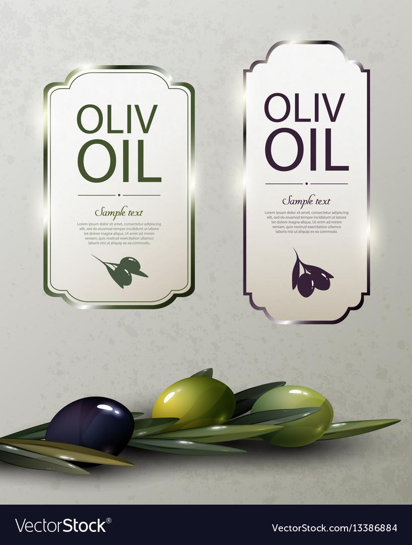 Olive oil glossy brand logos