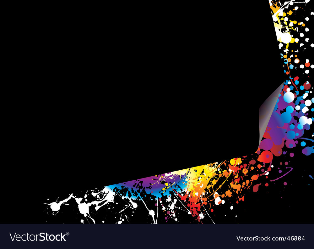 Page curl rainbow bright vector image