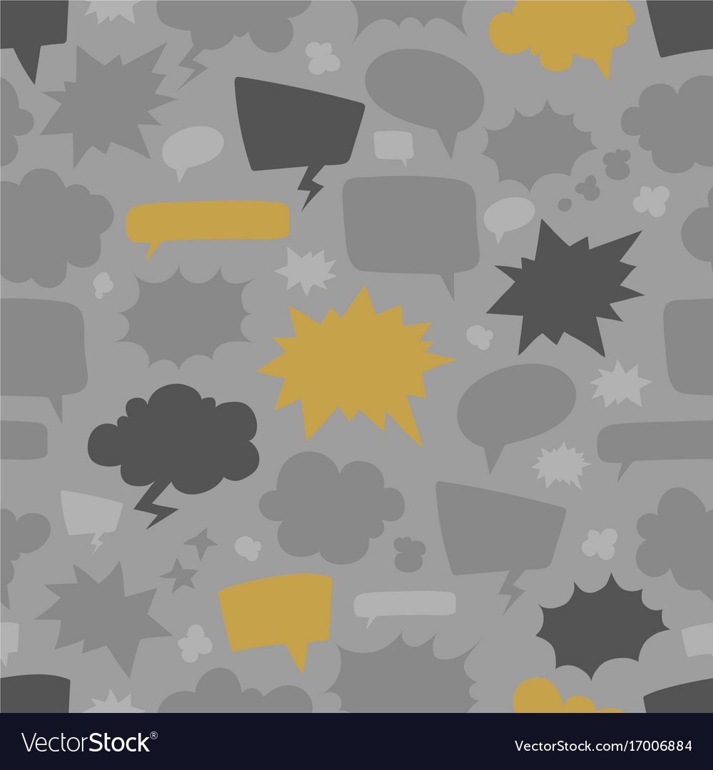 Speech bubbles seamless pattern