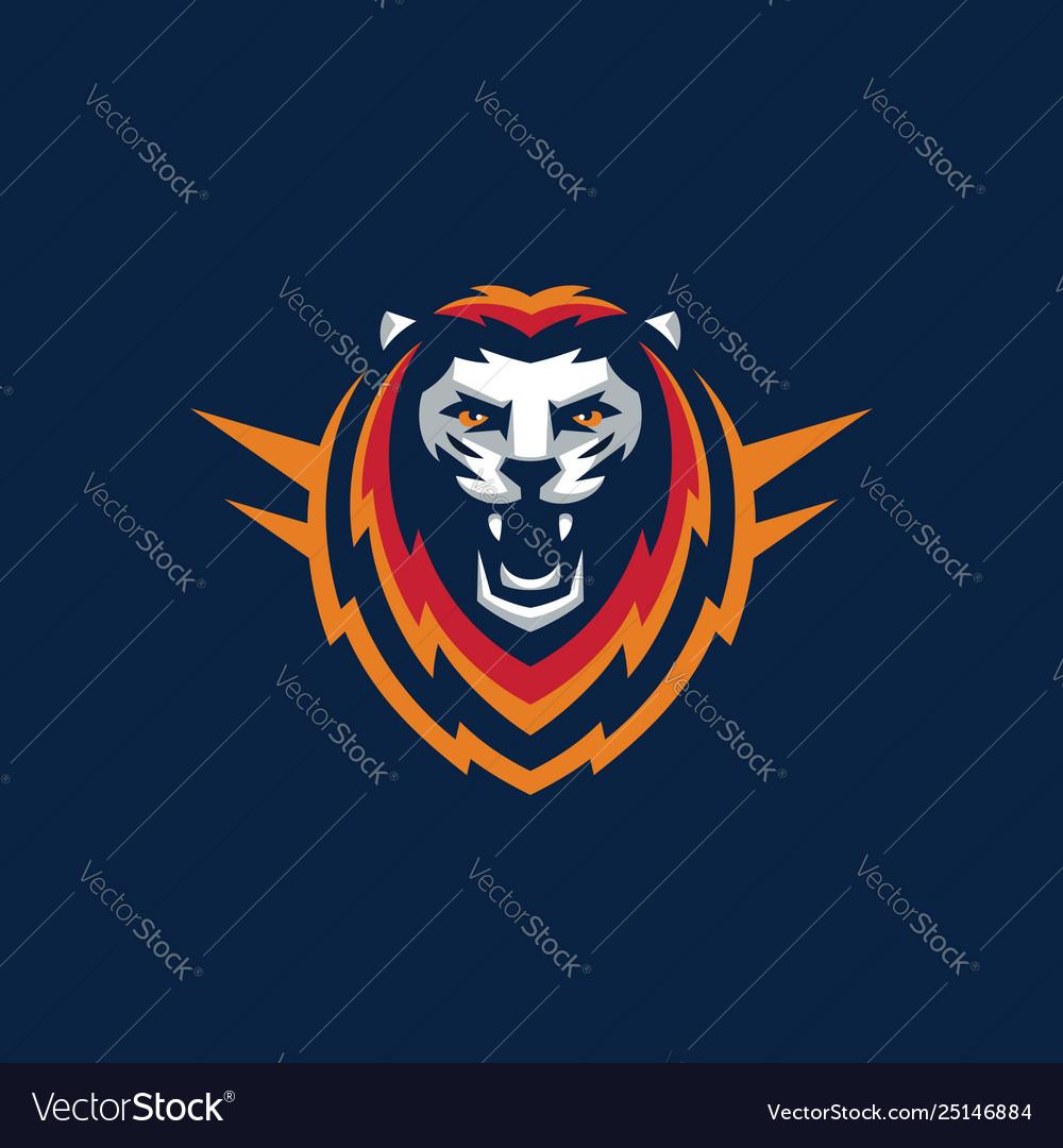 Sport lion design template