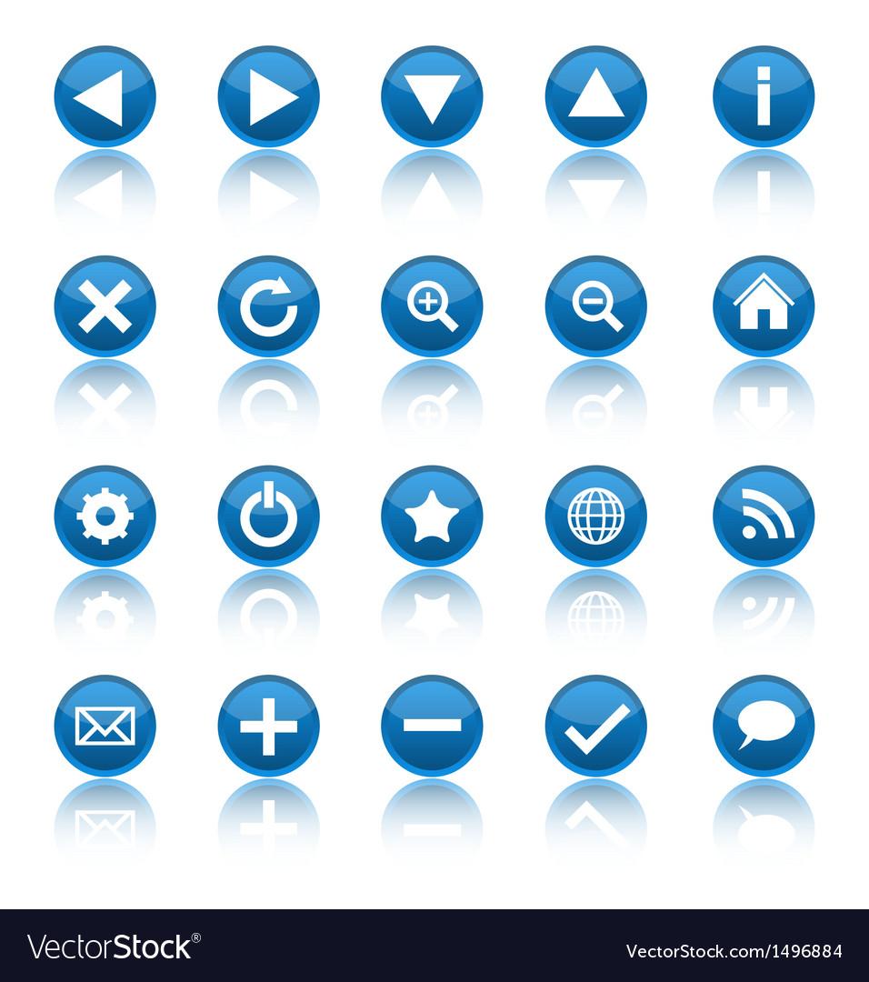 Web navigation icons isolaten on white background
