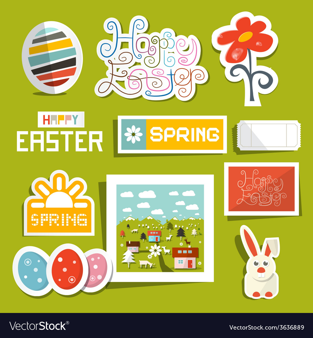 Easter Symbols - Objects Set
