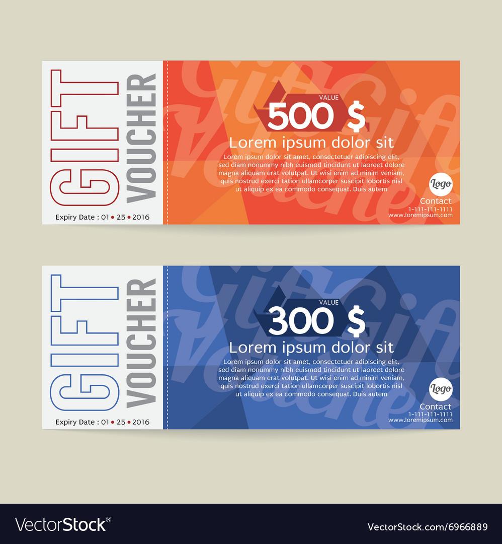 Gift Voucher Modern Template Design