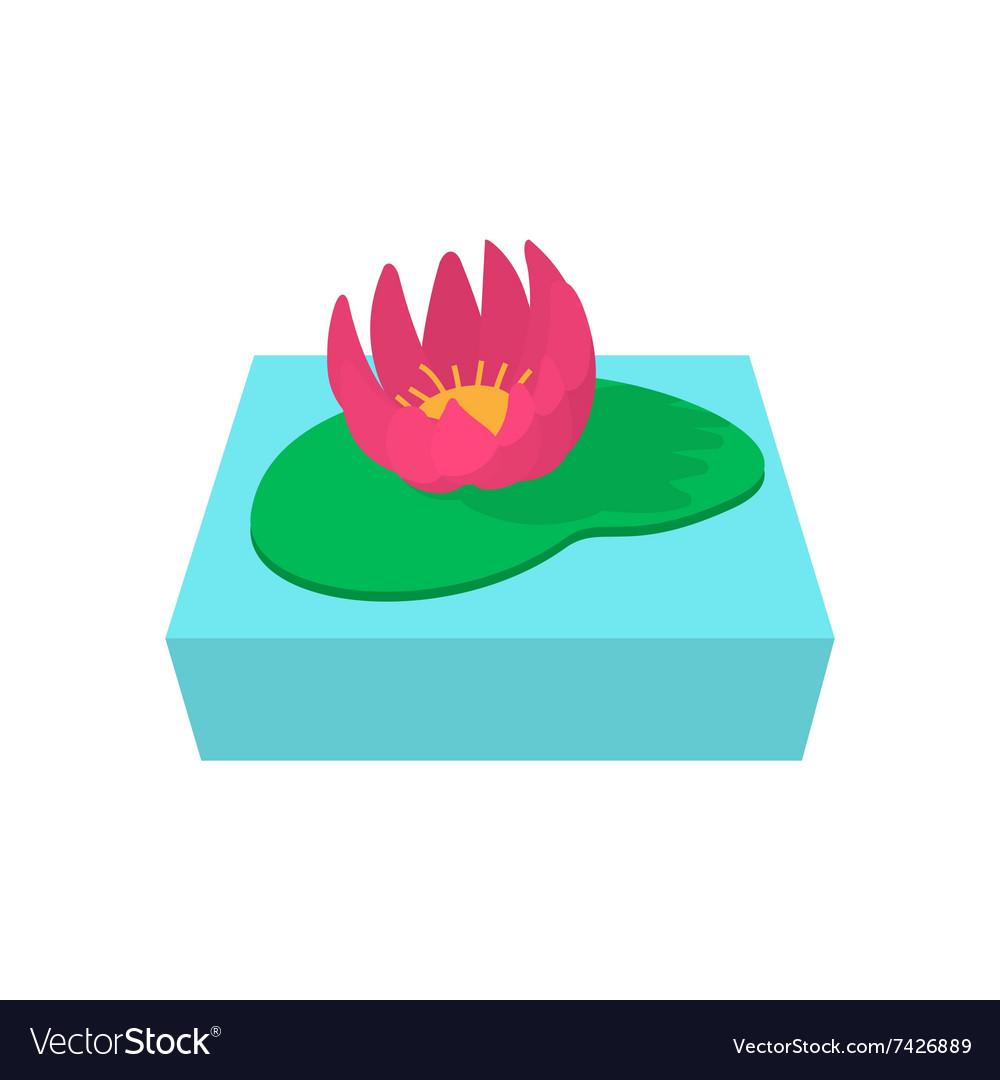 Lotus Flower Cartoon Icon Royalty Free Vector Image