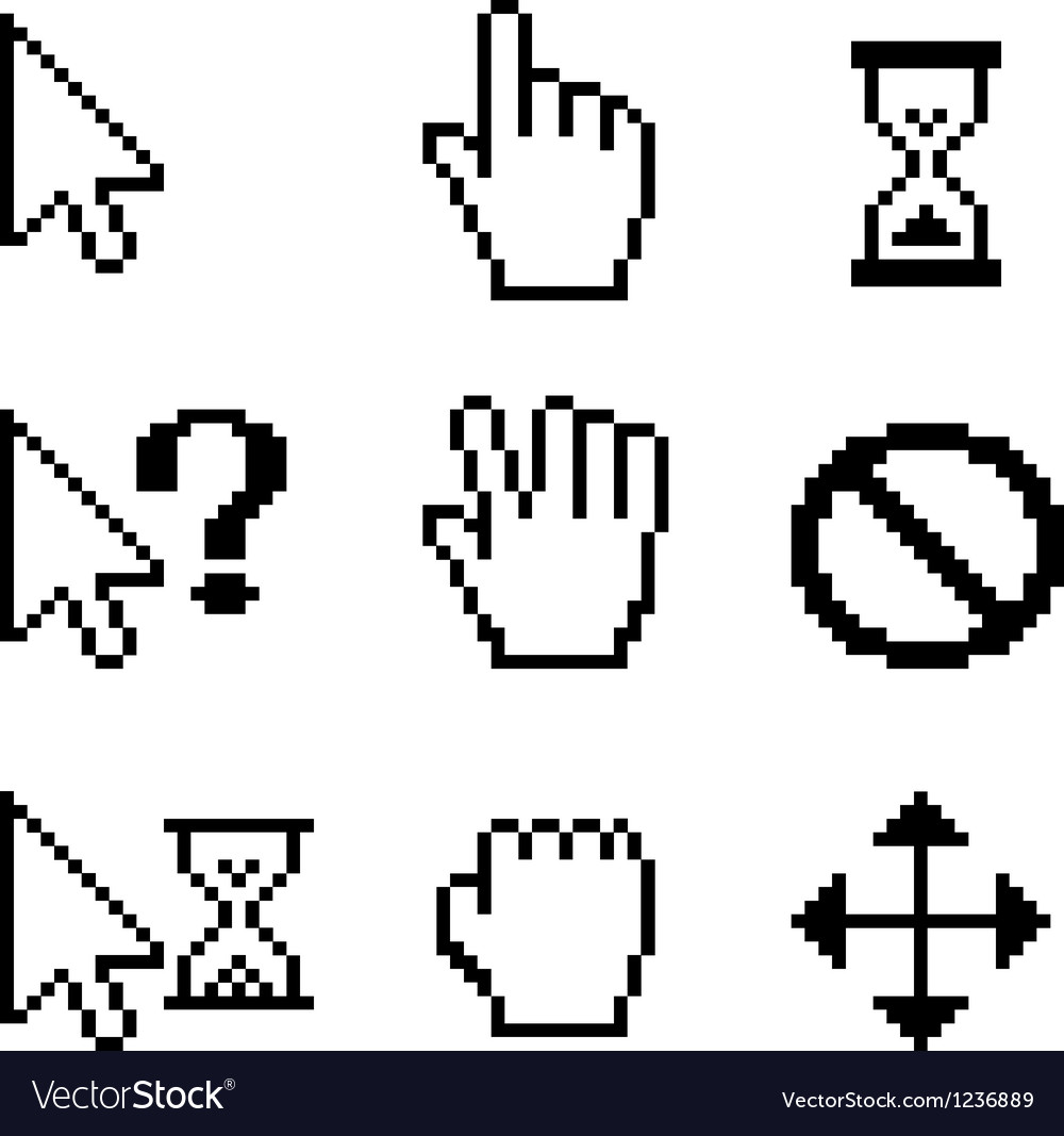 Mouse cursors vector image