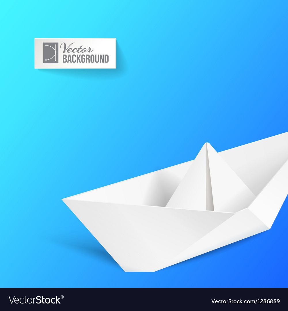 Origami ship