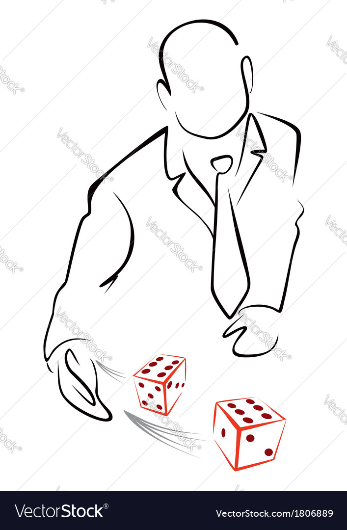 Rolling dices vector image