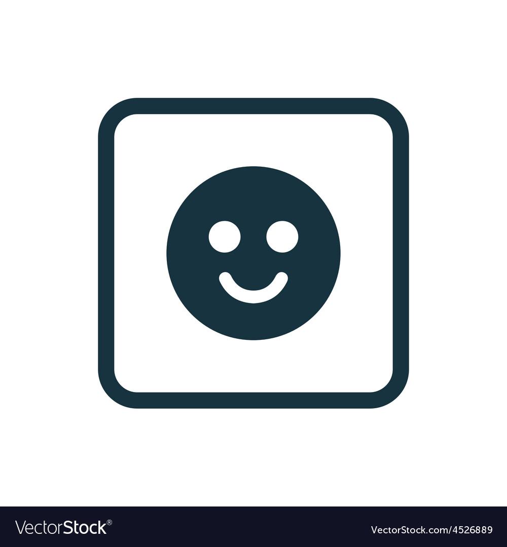 Smile icon Rounded squares button