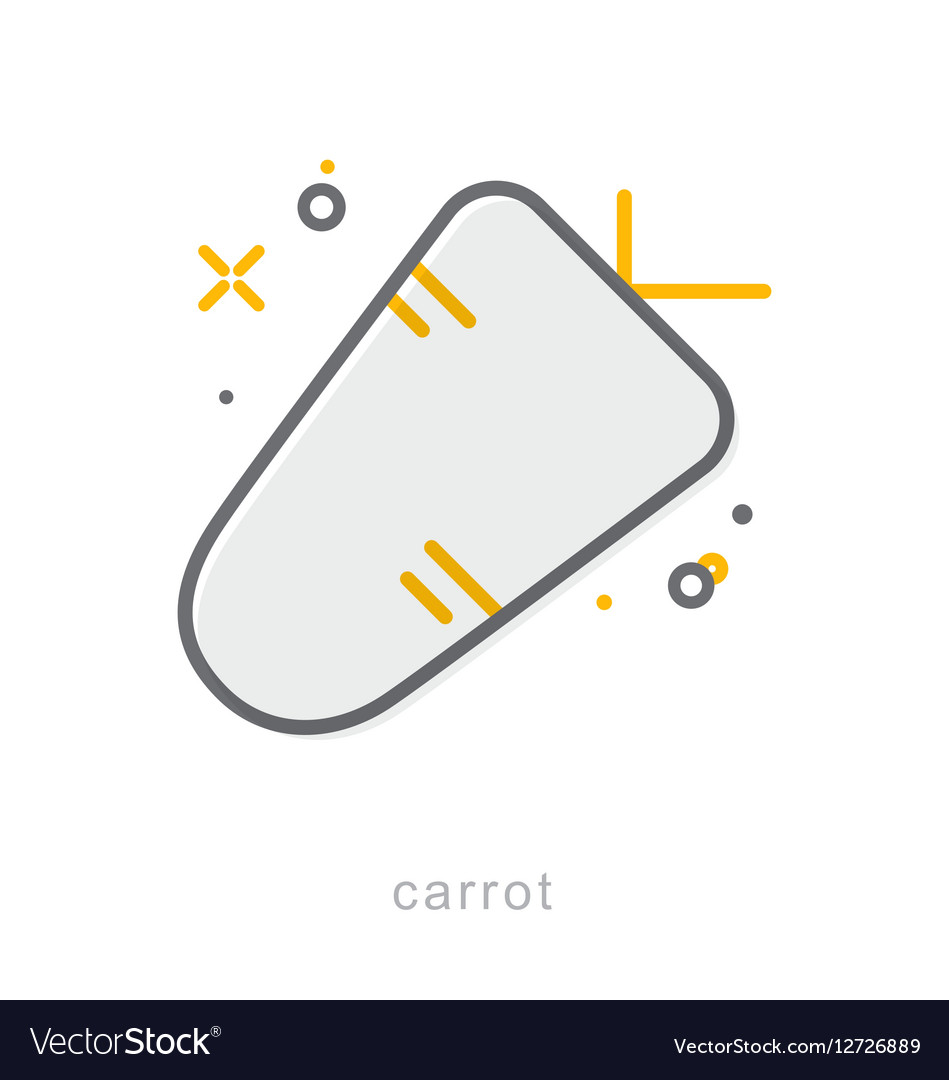 Thin line icons Carrot