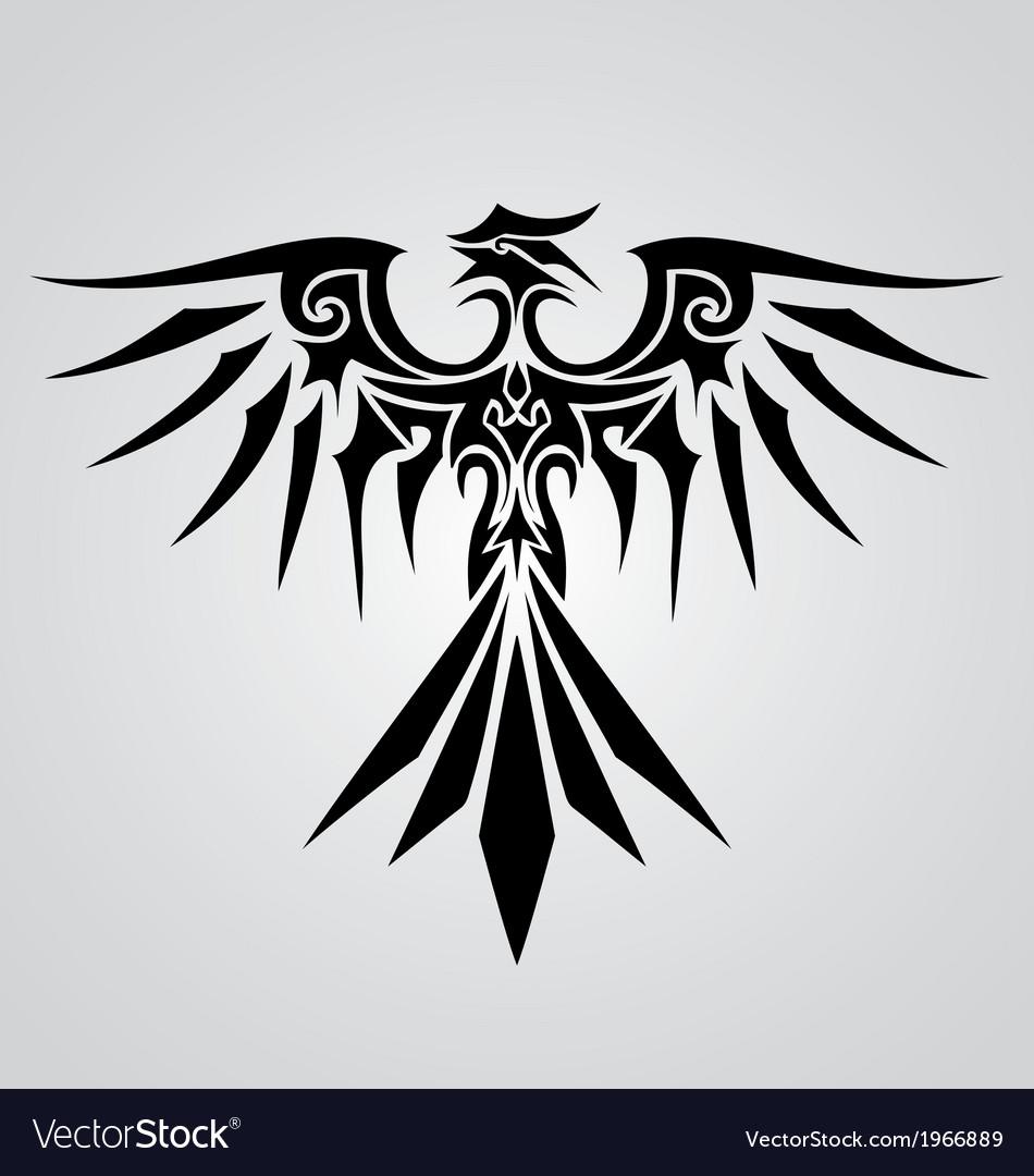 Tribal Phoenix Bird Royalty Free Vector Image Vectorstock