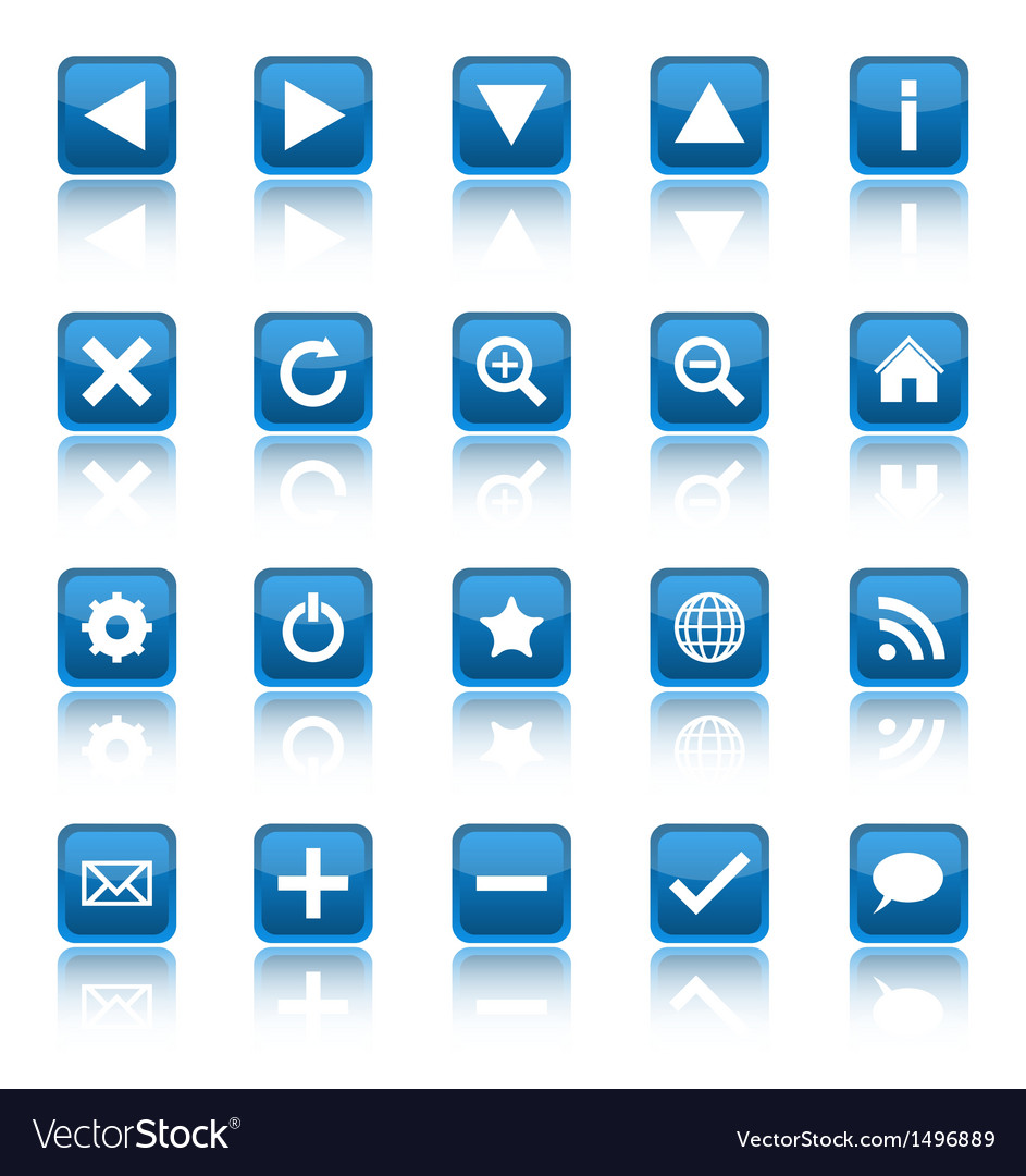 Web navigation icons isolaten on white background