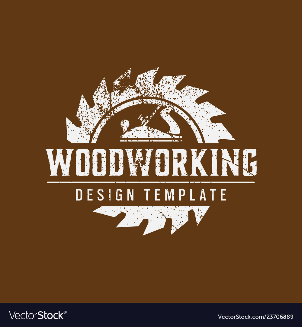 Woodworking logo icon design template