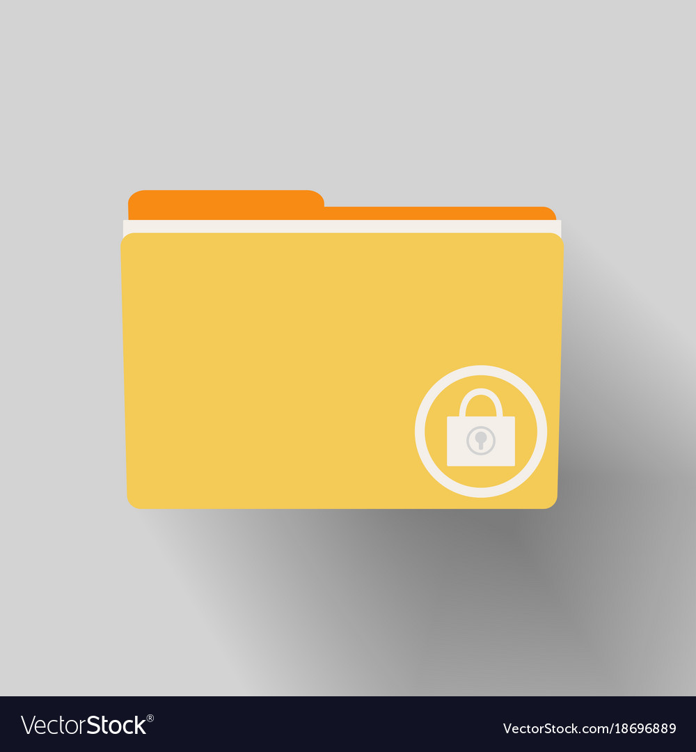 Yellow folder with locked