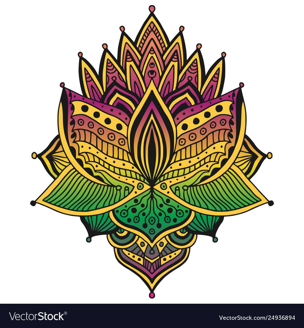 Colorful tattoo design t-shirt ornamental pattern
