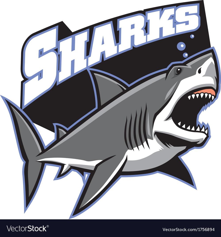 Great white shark mascot vector image
