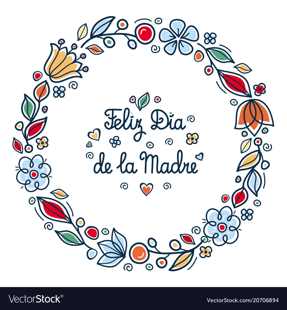Happy Mothers Day Greeting Card In Spain Vector Image