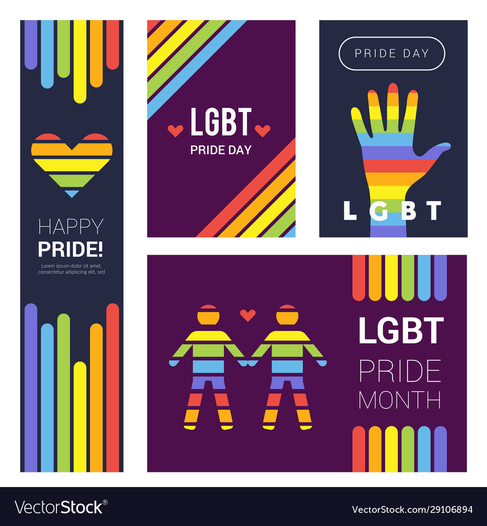 Lgbt banners pride rainbow colored backgrounds