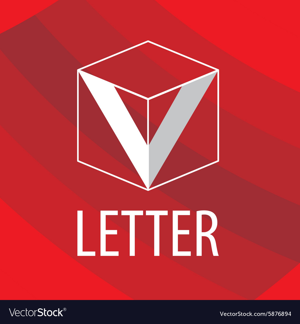 Logo the letter V in the form of a cube