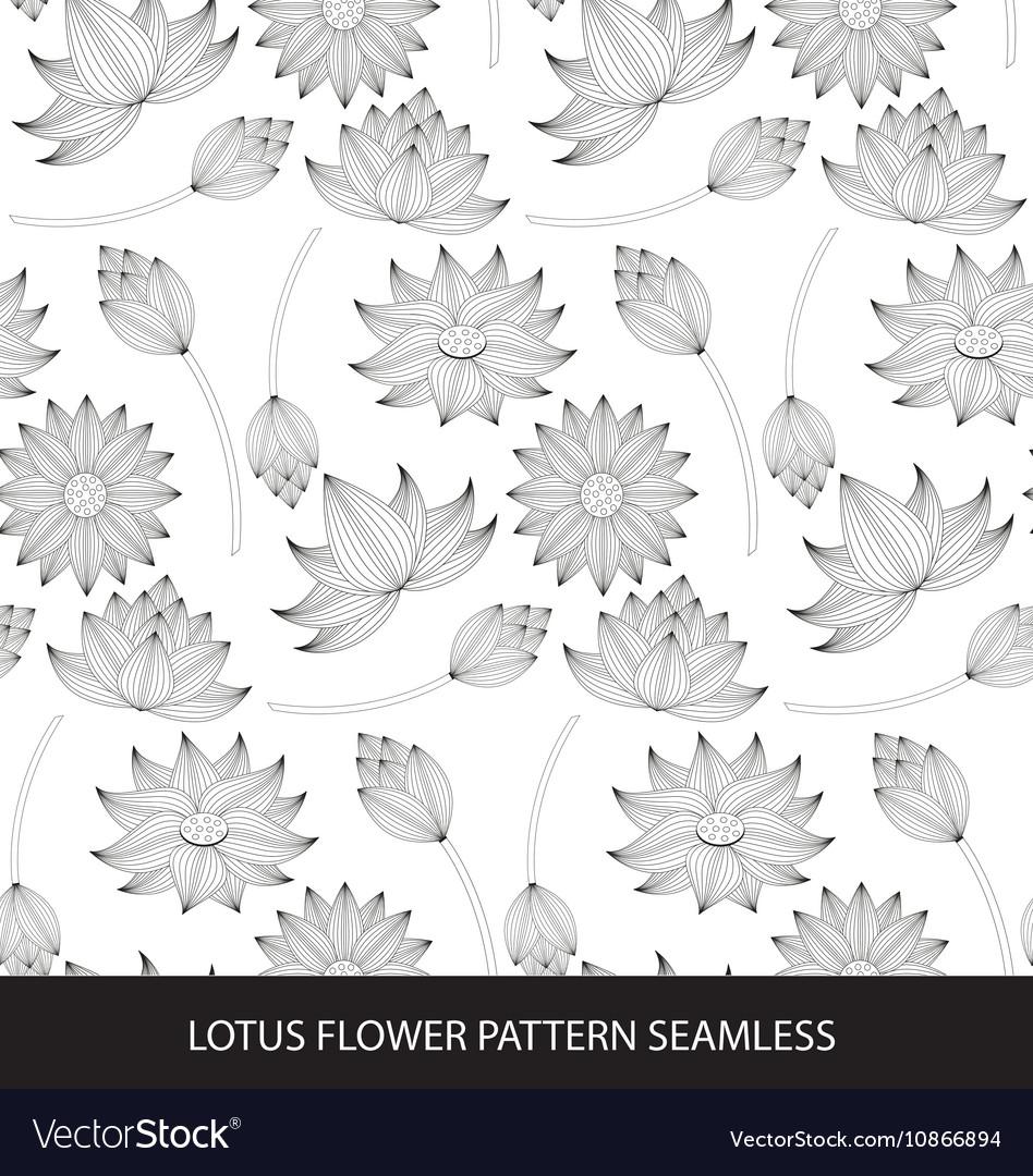 Lotus flower seamless pattern royalty free vector image lotus flower seamless pattern vector image izmirmasajfo