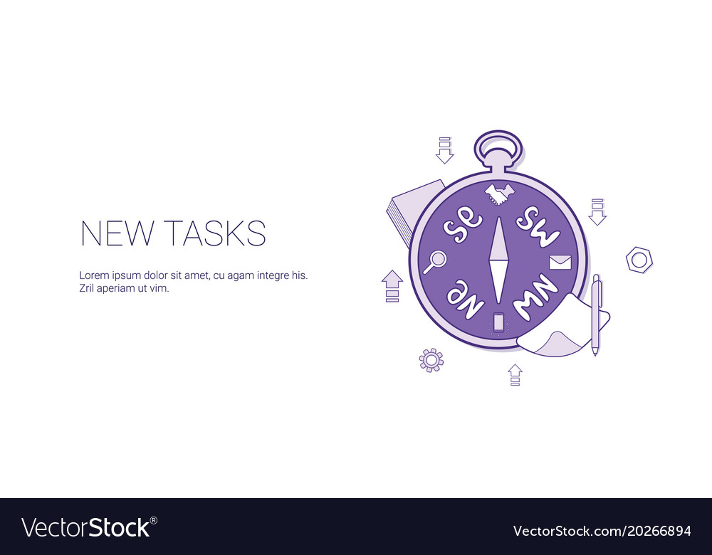 New task scheduling template web banner with copy