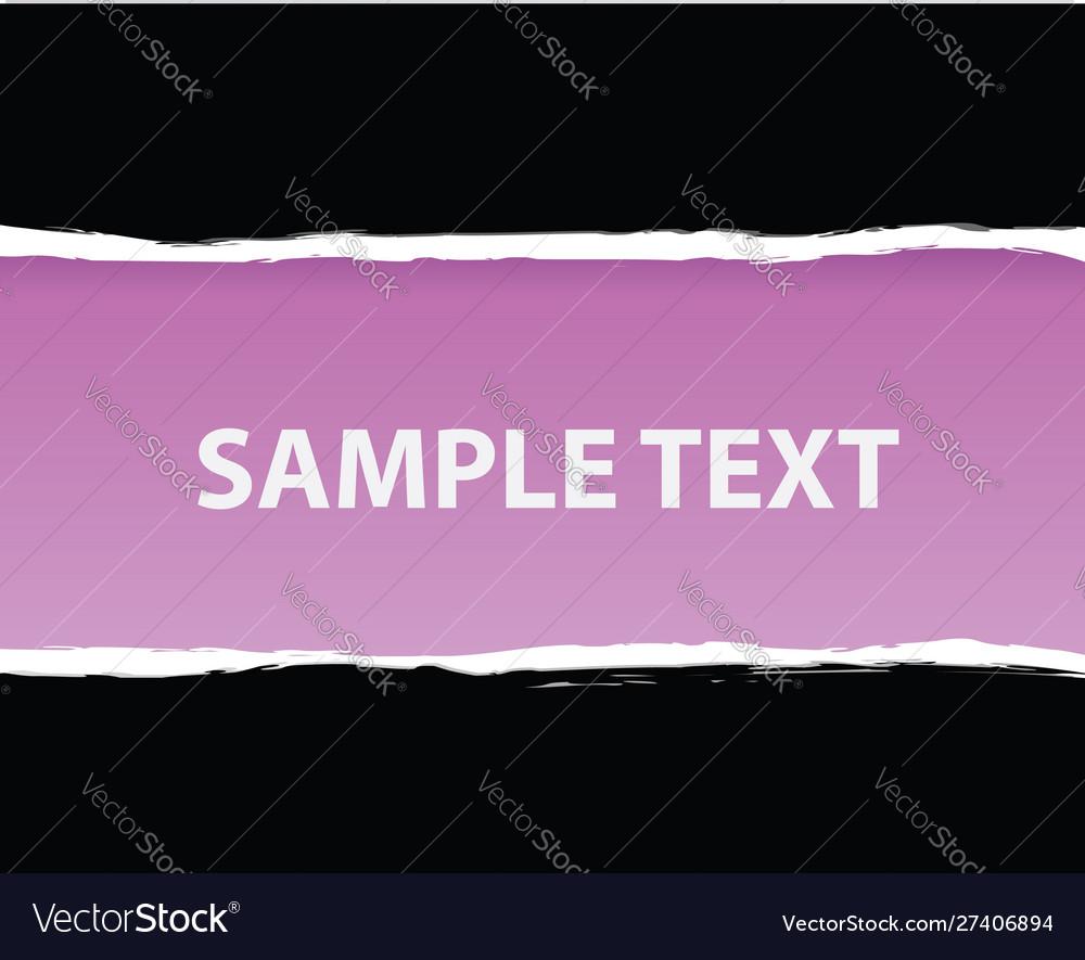 Purple ripped paper