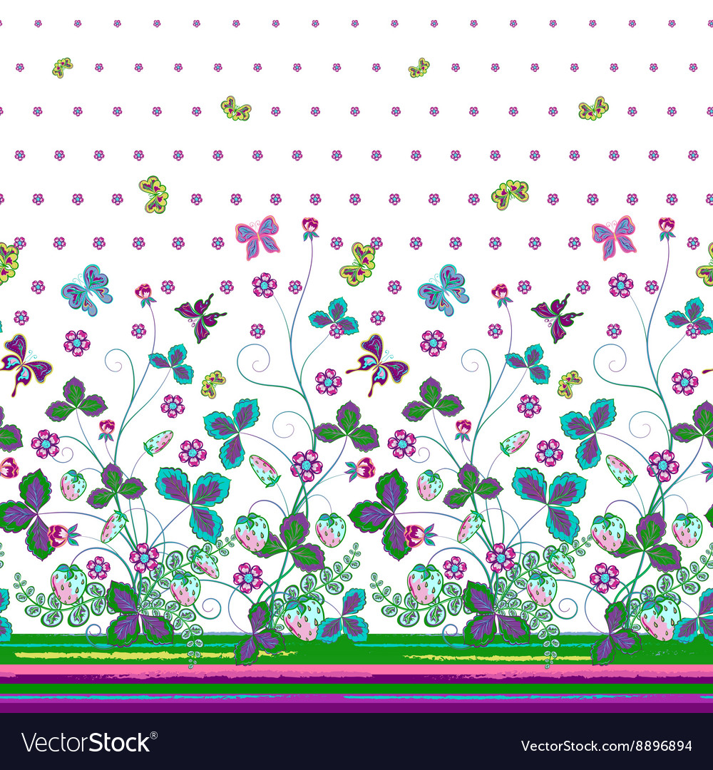 Seamless vertical pattern with Decorative