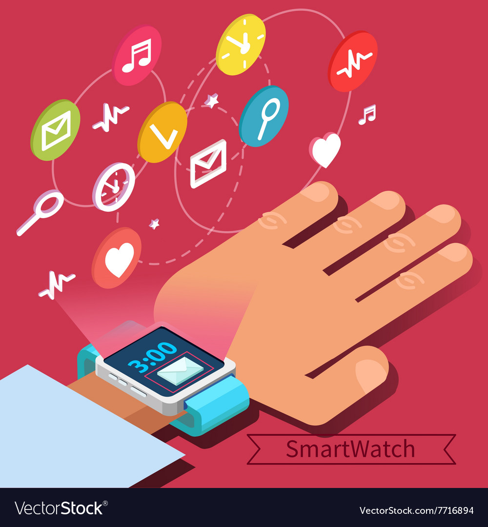 Smart Watch Technology Concept with Hand