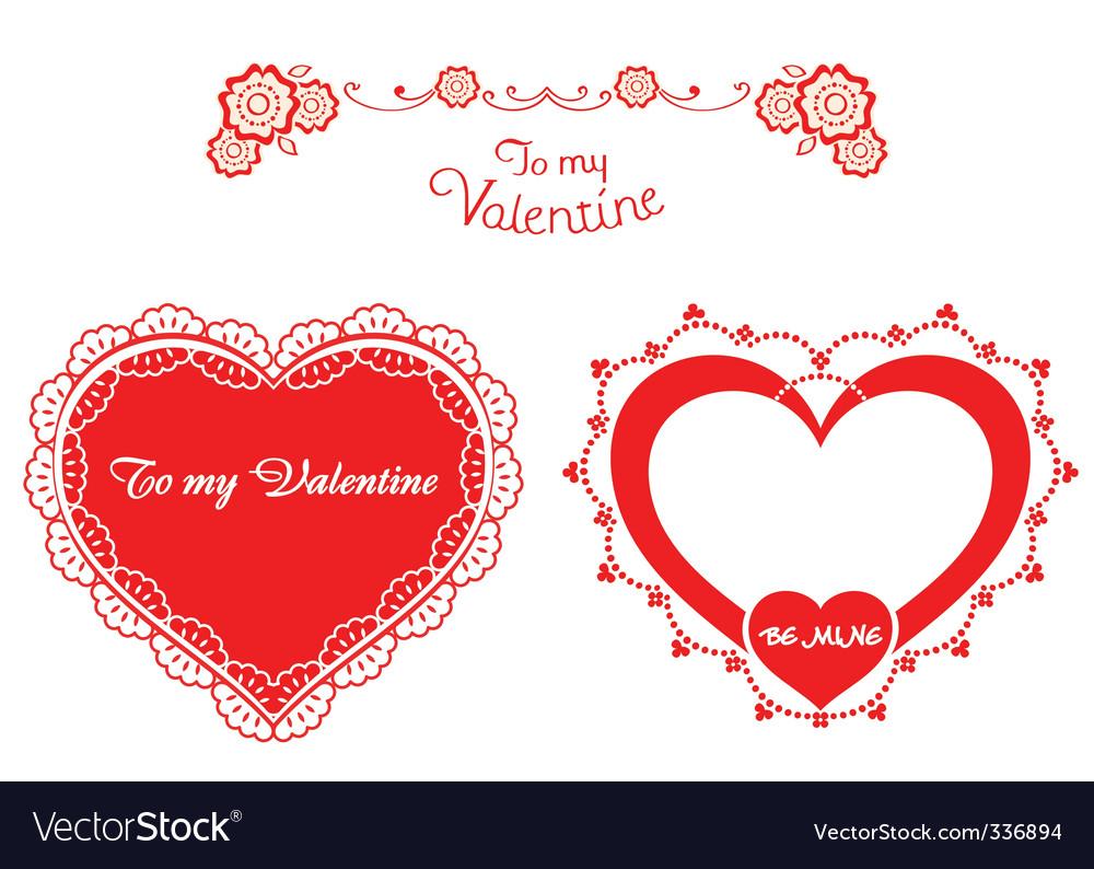 Valentine retro hearts