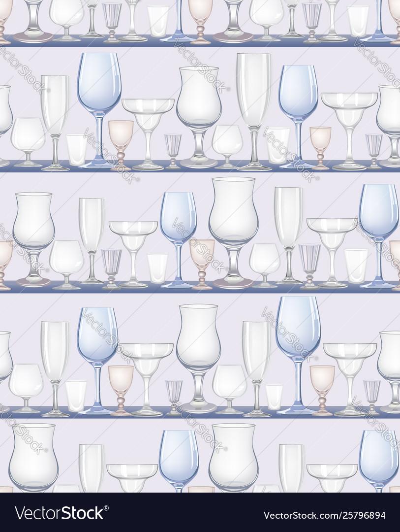 Wine glass seamless pattern drink wine background