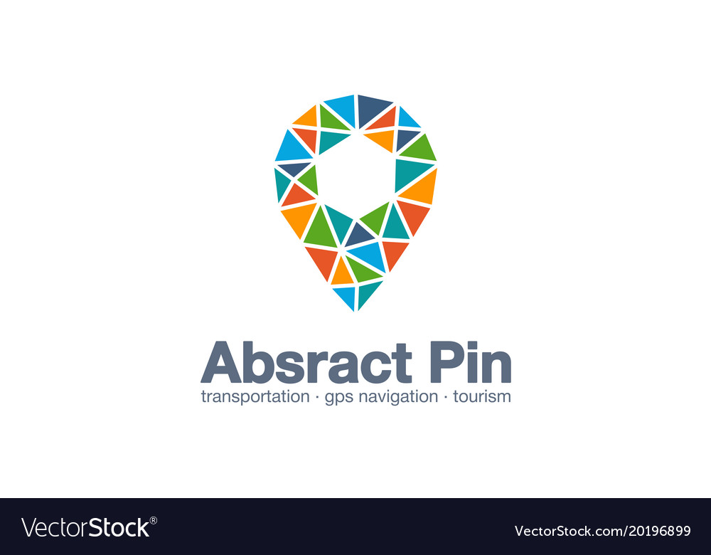 Abstract business company logo map pin gps