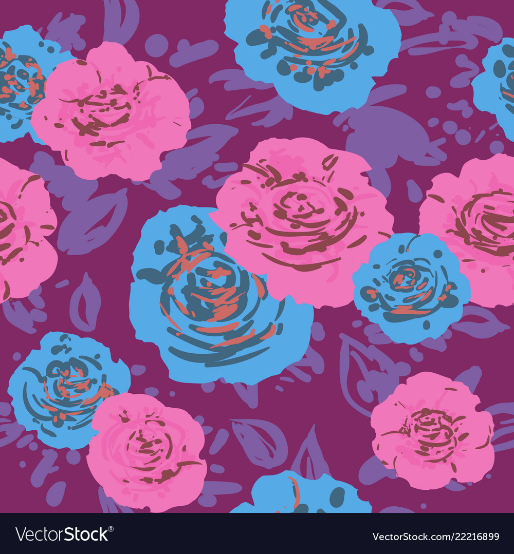 Abstract roses print
