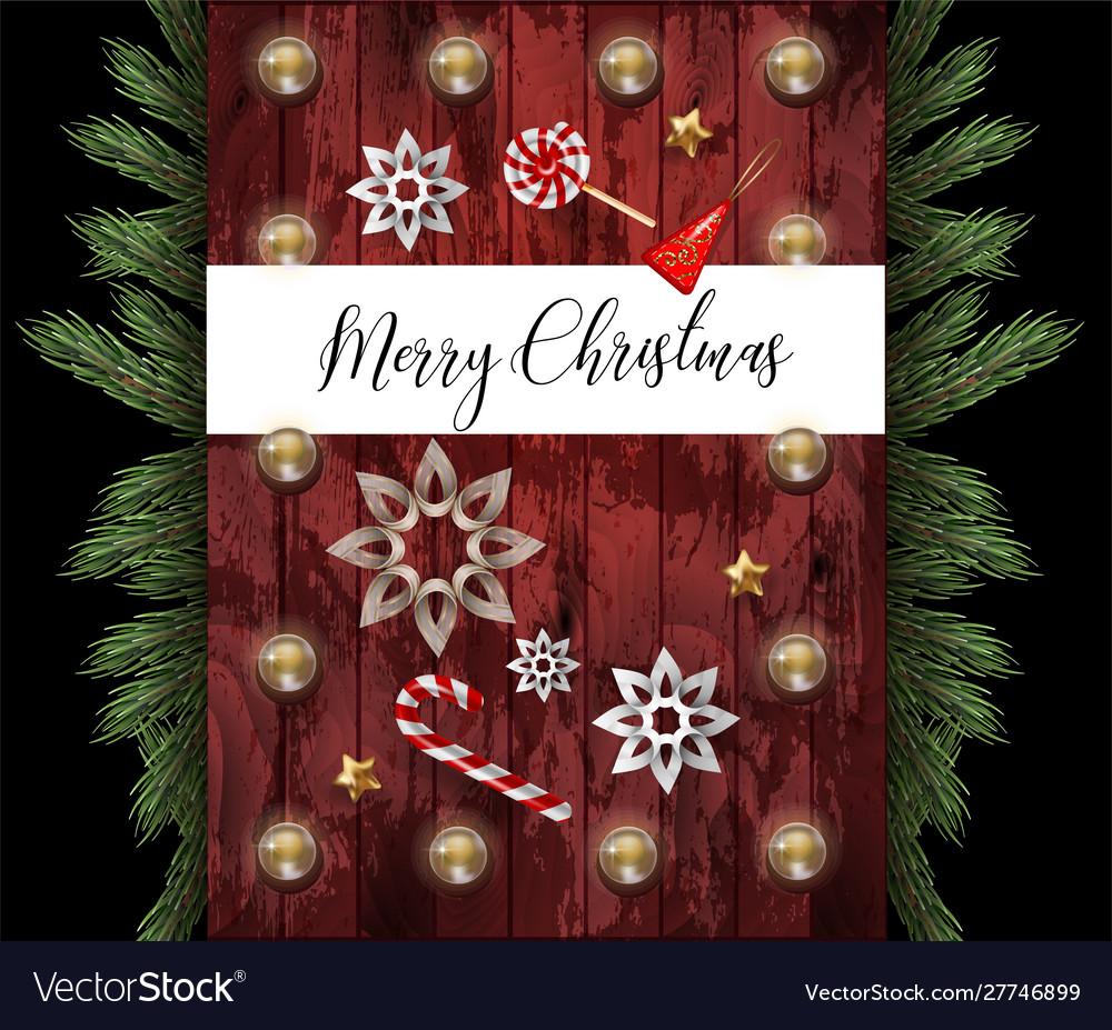 Christmas banner or postcard with fir star and