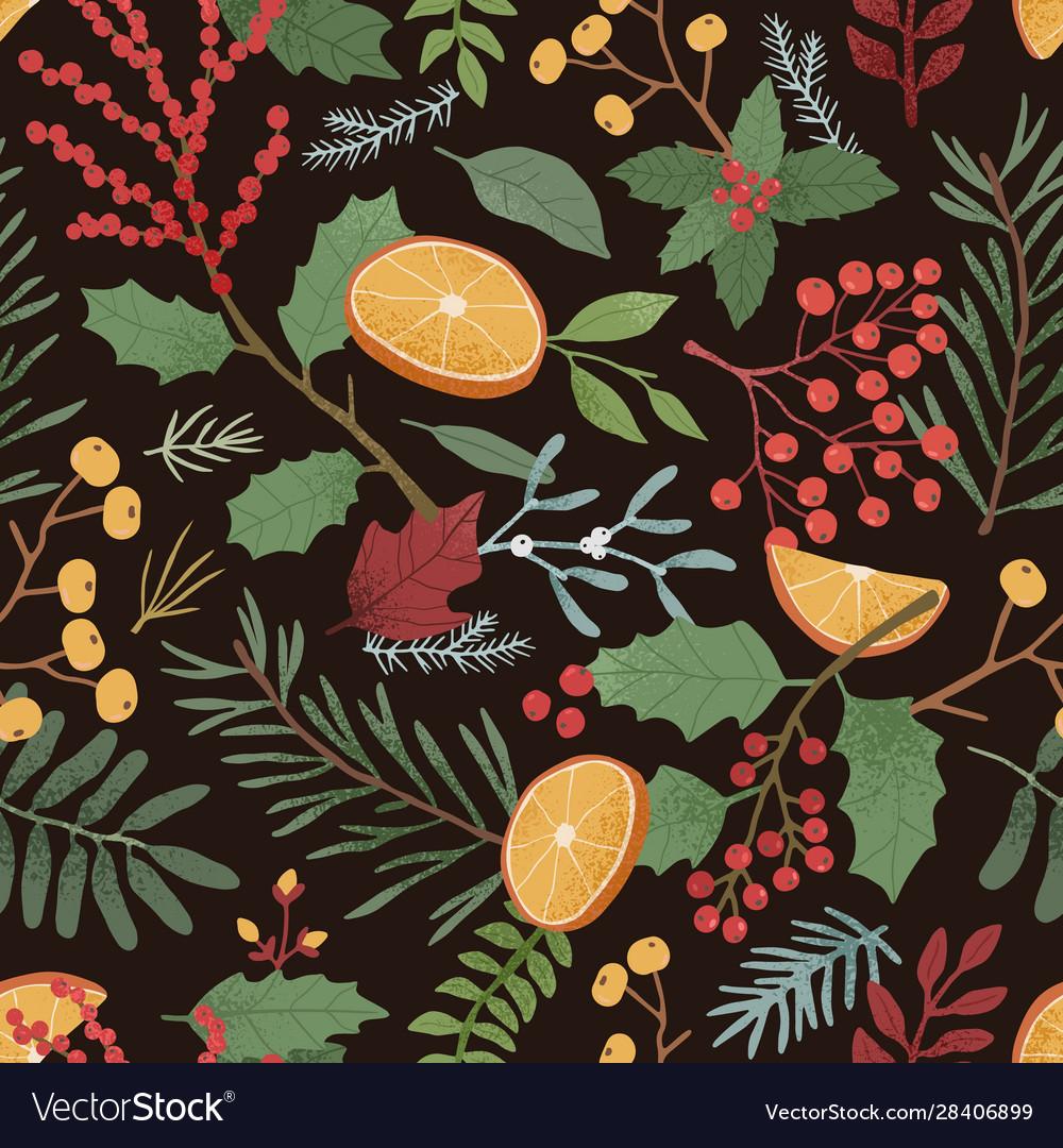 Christmas time seamless pattern vintage