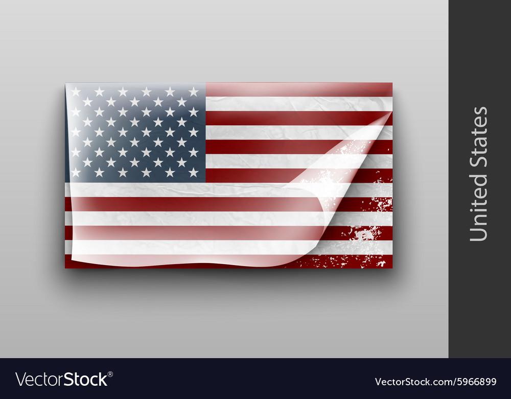 Us flag with tattered masking