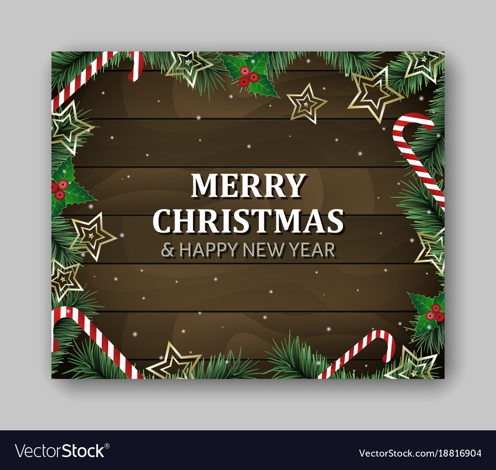 Large Rectangle With Merry Vector Image