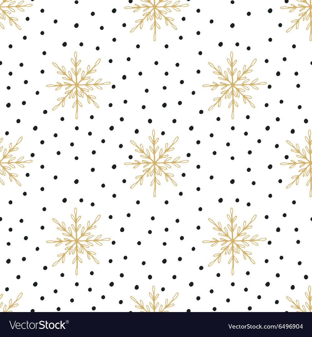 Hand drawn Christmas seamless pattern
