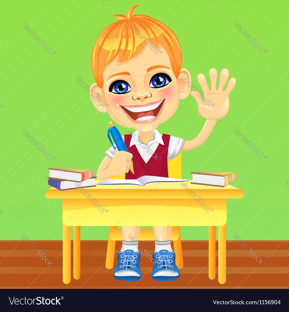 Happy smiling schoolboy