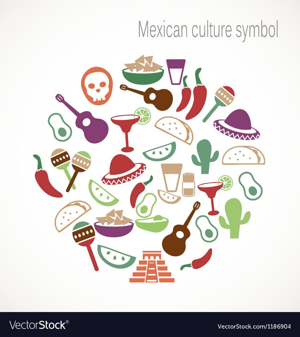Mexican Culture Symbols Royalty Free Vector Image