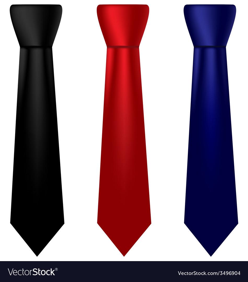 Multicolored silk ties set vector image