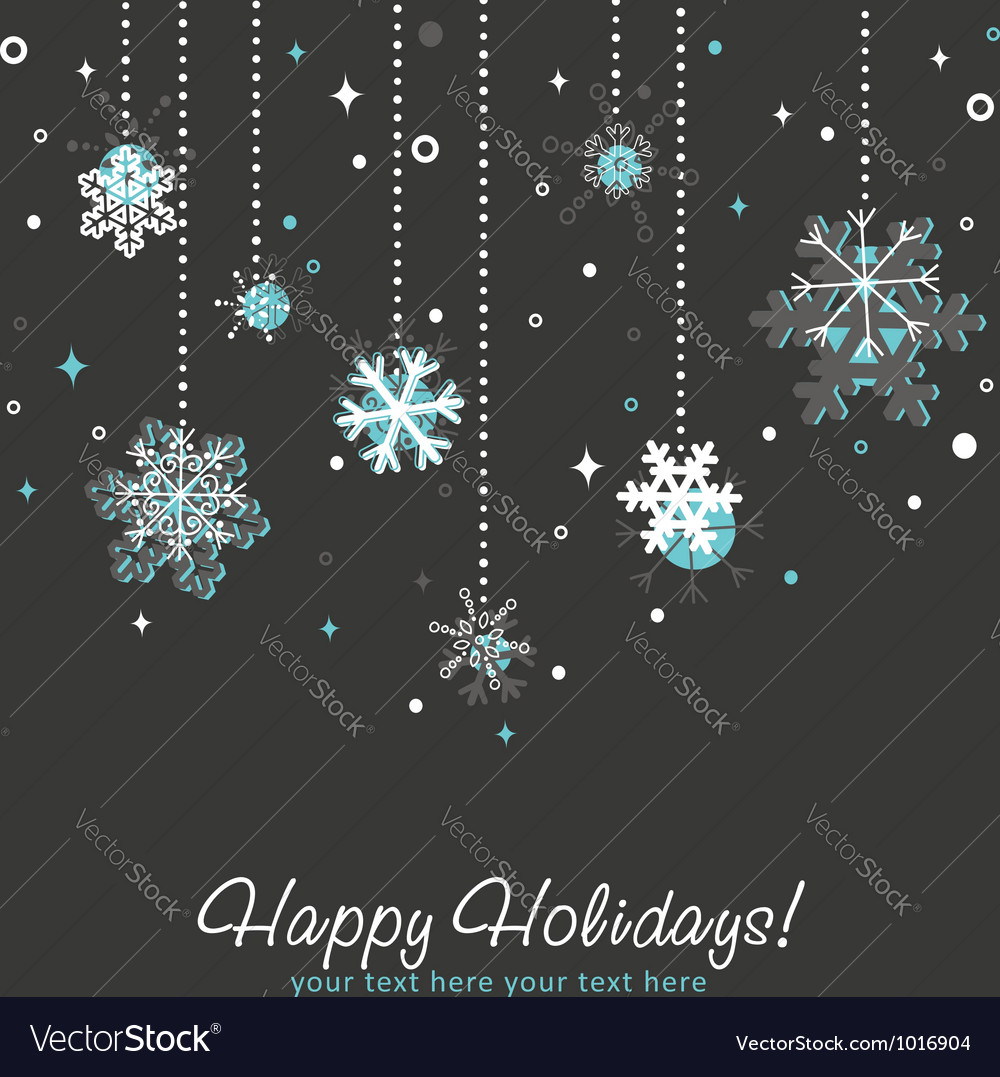 Ornate Christmas card vector image