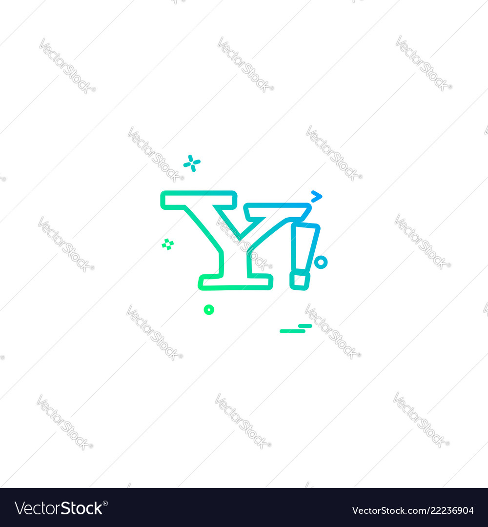 Yahoo Mail Icon Design Royalty Free Vector Image