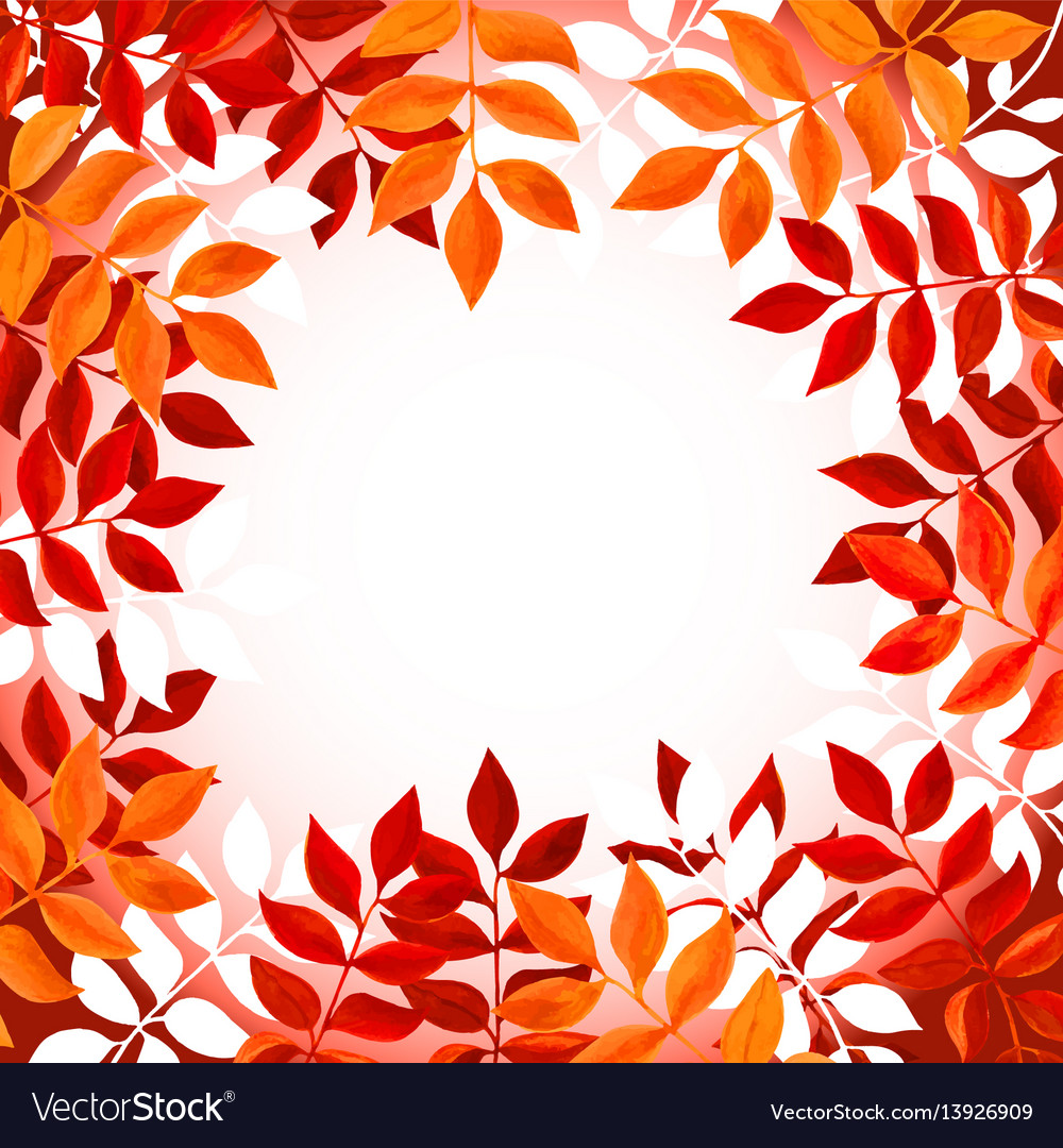 Floral background with orange and red leaves and