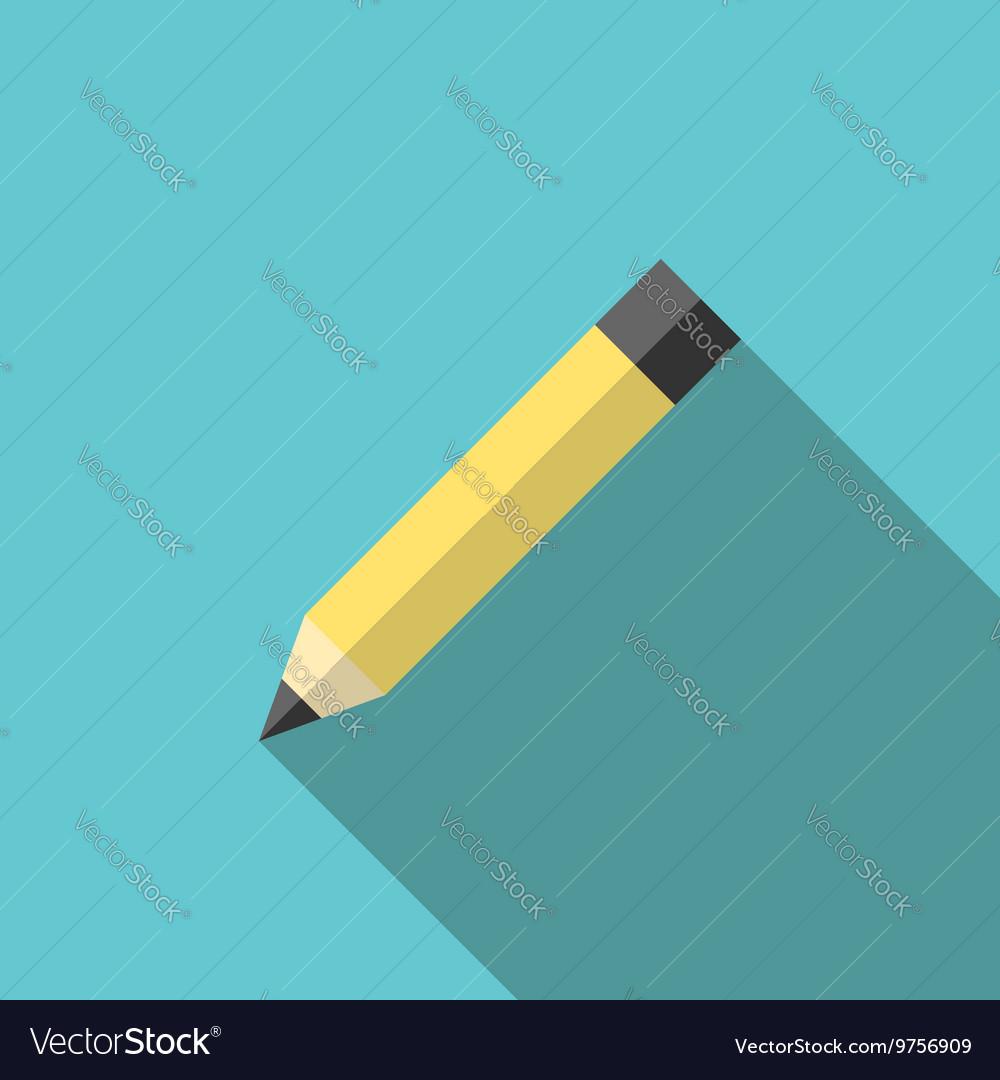 Graphite pencil long shadow